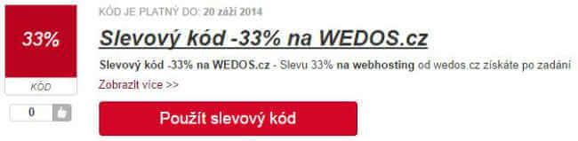 slevový kód WEDOS
