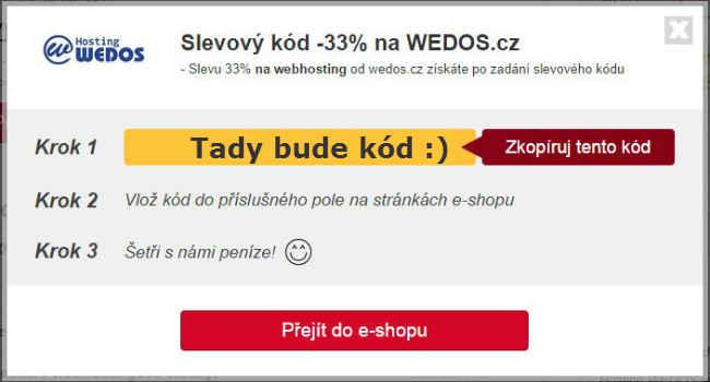 Slevový kupón WEDOS