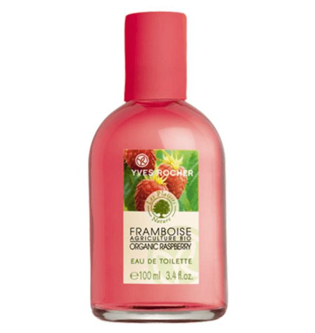 Toaletní voda s přírodním aromatem malin. Dostupná na Yves-Rocher.cz