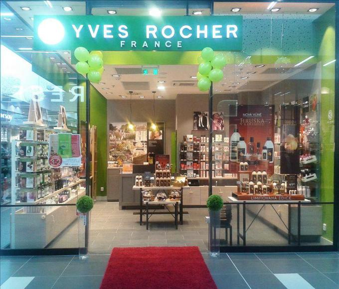 Typický obchod Yves Rocher v České republice