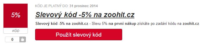 slevový kupón zoohit.cz