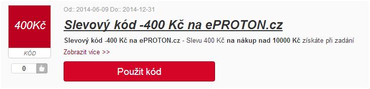 kód slevového kupónu eproton