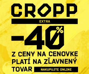 Zľavový kód -40% na CROPP