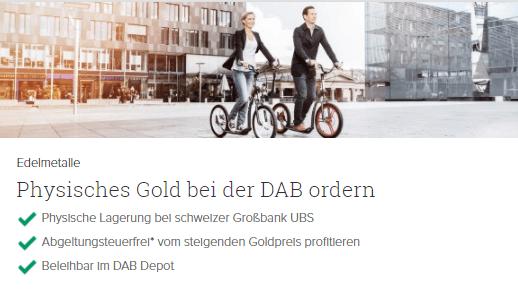 Gold bei der DAB
