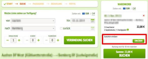 Flixbus Gutschein einslösen
