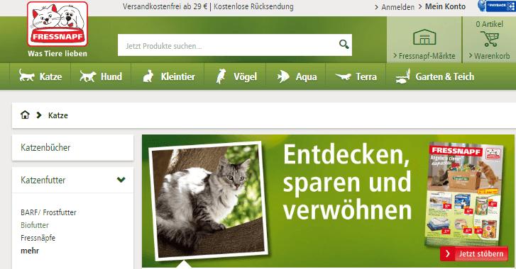 Produkte für Katzen bei Fressnapf