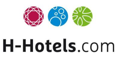 Das Logo von h-hotels.com