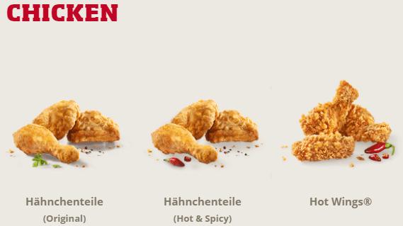 Chicken bei KFC