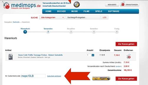 Ein Beispiel medimops.de Gutscheincode