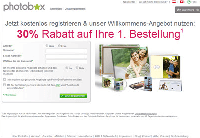 Photobox Rabatt