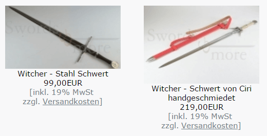 Wtcher Swords and more