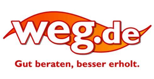 Das Logo von weg.de