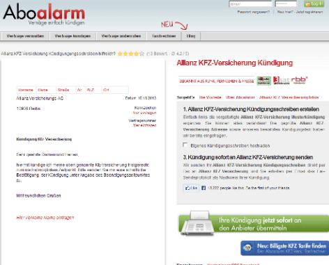 aboalarm Webseite