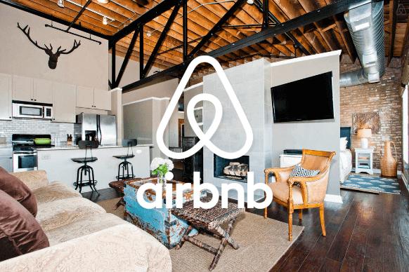 Wohnzimmer bei Airbnb