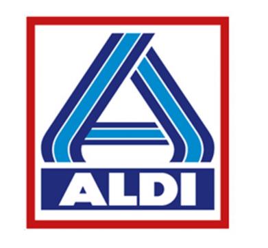Das Logo von ALDI