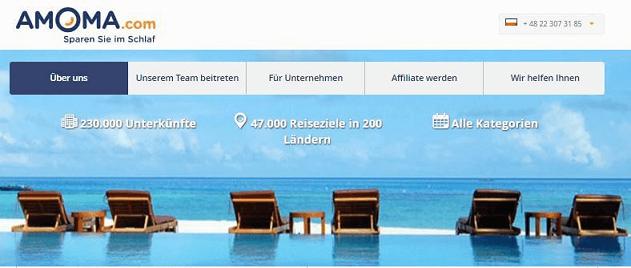 AMOMA.com Hauptseite