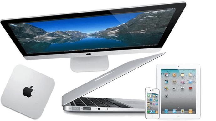 Unterschiedliche Apple Produkte