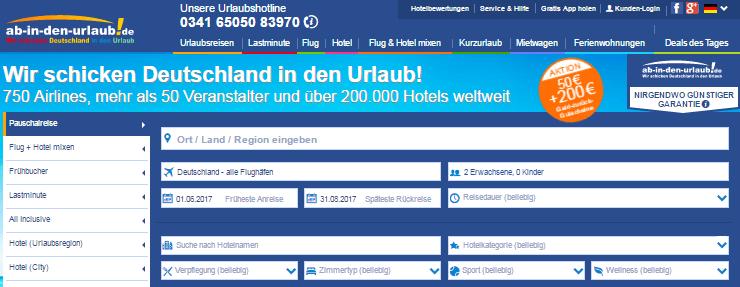 ab-in-den-urlaub.de Suchleiste