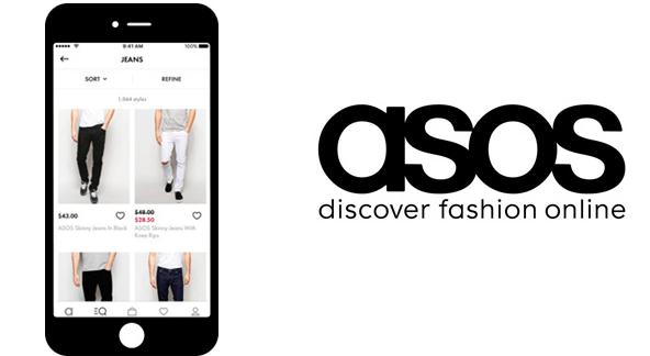 Kleidung über die asos App bestellbar