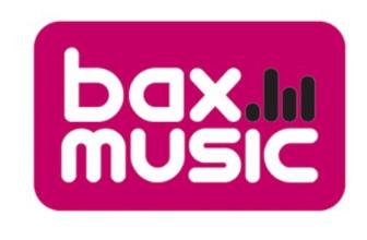 Das Logo von bax music