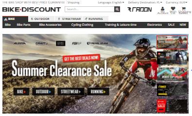 Bike Discount Hauptseite