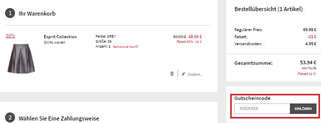 Gutscheincode bei Boozt.com