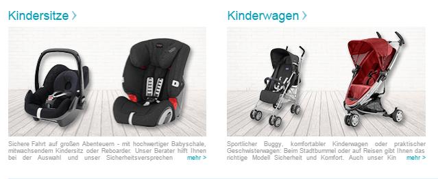 maxi cosy und Kinderwagen bei babymarkt
