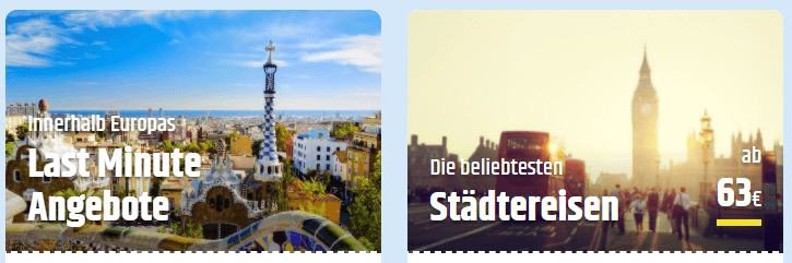 Angebot bei Cheaptickets