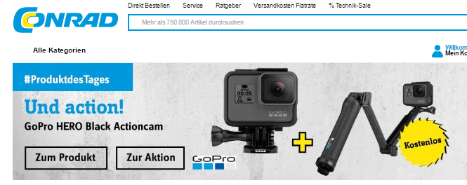 Eine Camera bei CONRAD