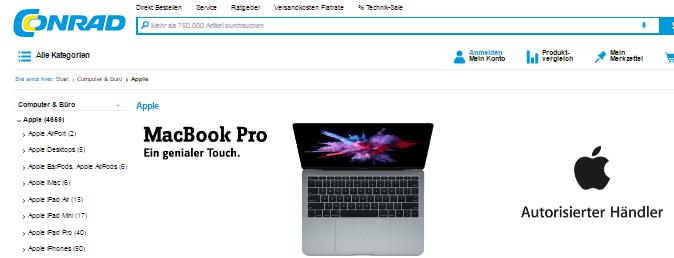 Ein Apple Mac bei CONRAD