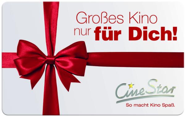 Ein CineStar Geschenkgutschein