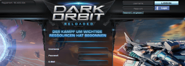 DarkOrbit Hauptseite