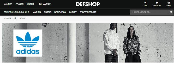 Adidas bei DEFDEFSHOP