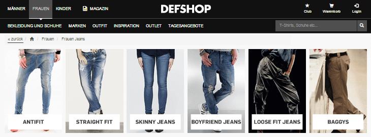 Jeans für Damen bei DEFDEFSHOP