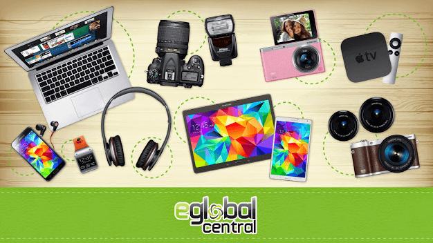Beispiele der Produktkategorien bei eGlobal Central