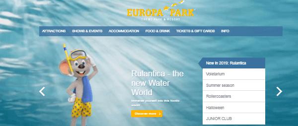 Europa Park Hauptseite