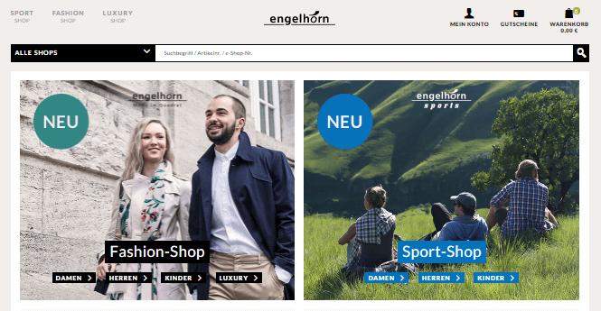 Engelhorn Webseite