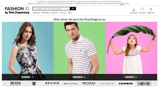 Fashion ID Hauptseite