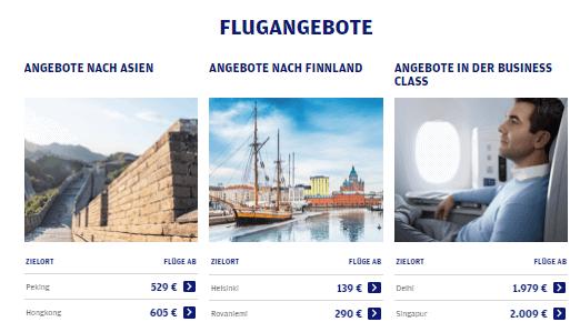 Flugangebote bei Finnair