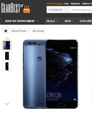 Smartphones bei GearBest