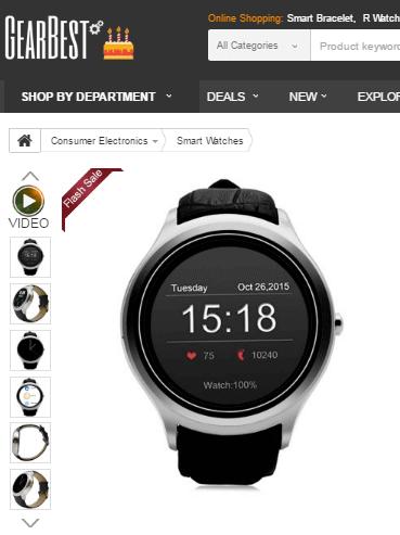 Smartwatch bei GearBest