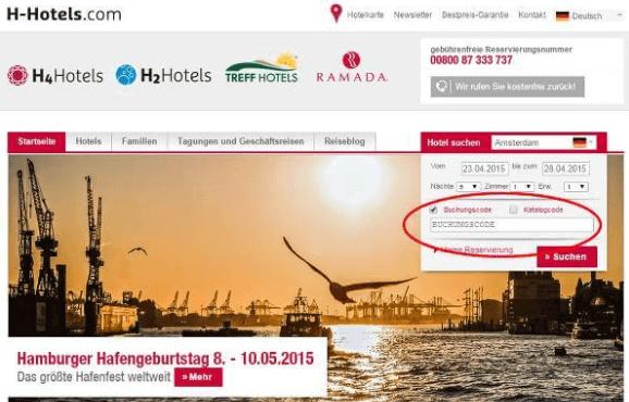 h-hotels Gutschein-Code