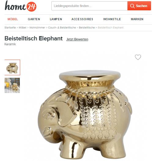 Glückselefant bei home24