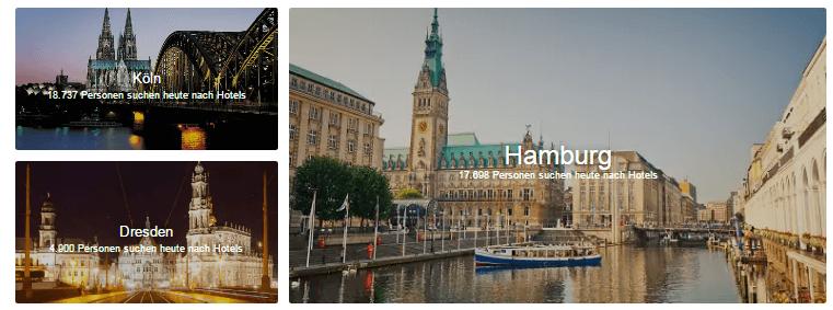 Hotels.com in bekanntesten Städten