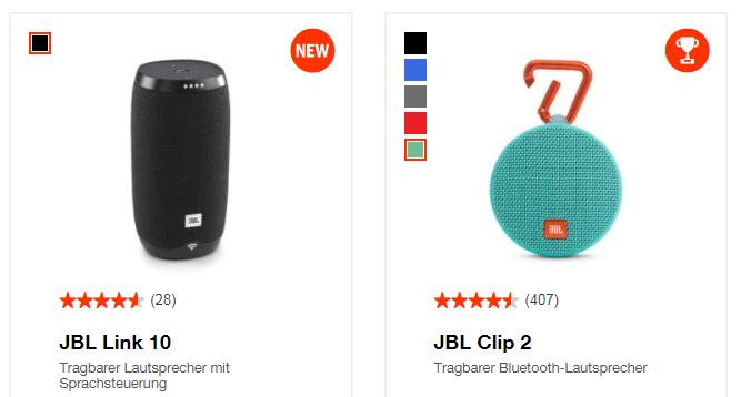Bluetooth-Lautsprecher bei JBL