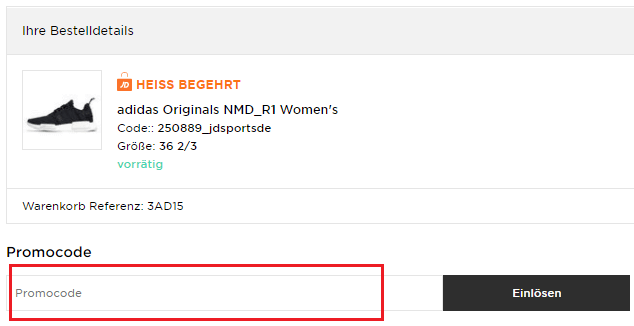 Promocode bei JD Sports