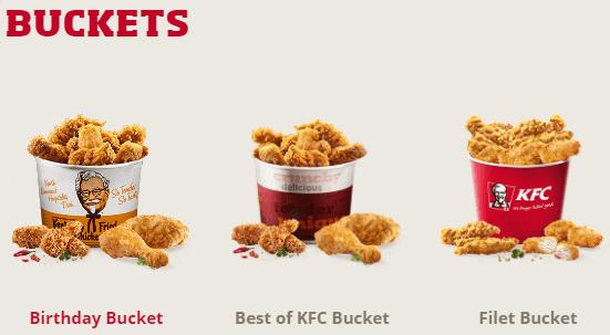 Buckets bei KFC