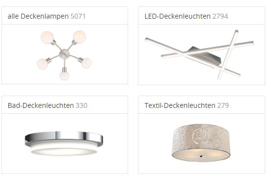 Deckenleuchten bei Lampenwelt