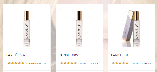 Parfums bei L'ARISÉ