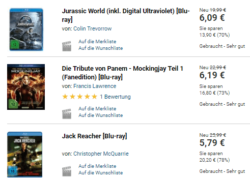 Filme bei medimops.de